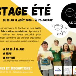 Stage d'été en collaboration avec le fablab l'E-Square
