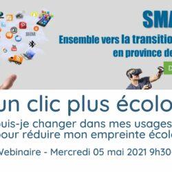 """Webinaire """"Clic écologique"""" 05/05/21"""