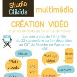 Ateliers de création vidéo pour les enfants